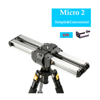 Portable Micro 2 Professional Camera Video Slider Travel Track Slider Dolly Track Rail for DSLR/ARRI Mini/RED/BMCC Iphone X