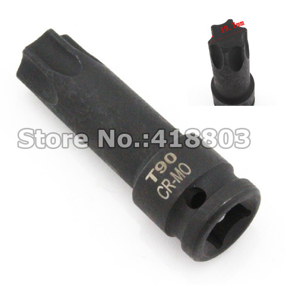 Engine Care Loyal 1/2 Dr 78mm Length T90 Impact Socket Bit Torx Star Socket Bit Tool Cr-mo Durable Service