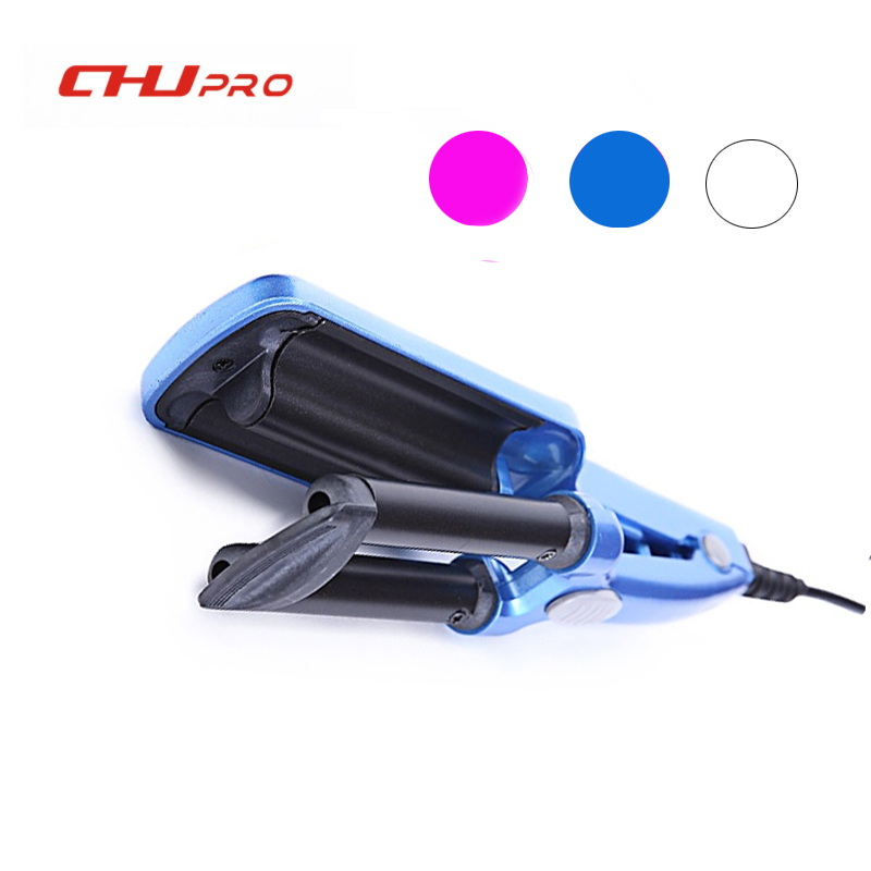 CHJ Hair Curler Mini 3 Barrel Curling Iron Flat Ceramic Hair Tools Professional Crimper Tongs Curling Wand Salon Styling Tools