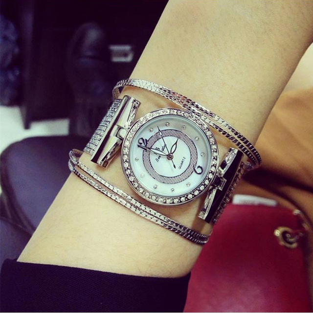 BS Brand reloj mujer Fashion Quartz Women's Watches Ladies Bracelet For Watch Gold Dress Diamond Wrist Watch relogio feminino