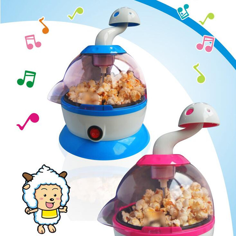 ФОТО 220V Cartoon Multifunction Automatic Music Popcorn Maker DIY Children Popcorn Machine Different Favors For Children Gift