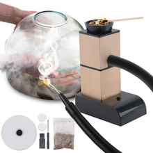 BORUiT taşınabilir moleküler mutfak sigara tabancası gıda soğuk duman jeneratörü et yanık tütsü pişirme barbekü izgara sigara içen ahşap