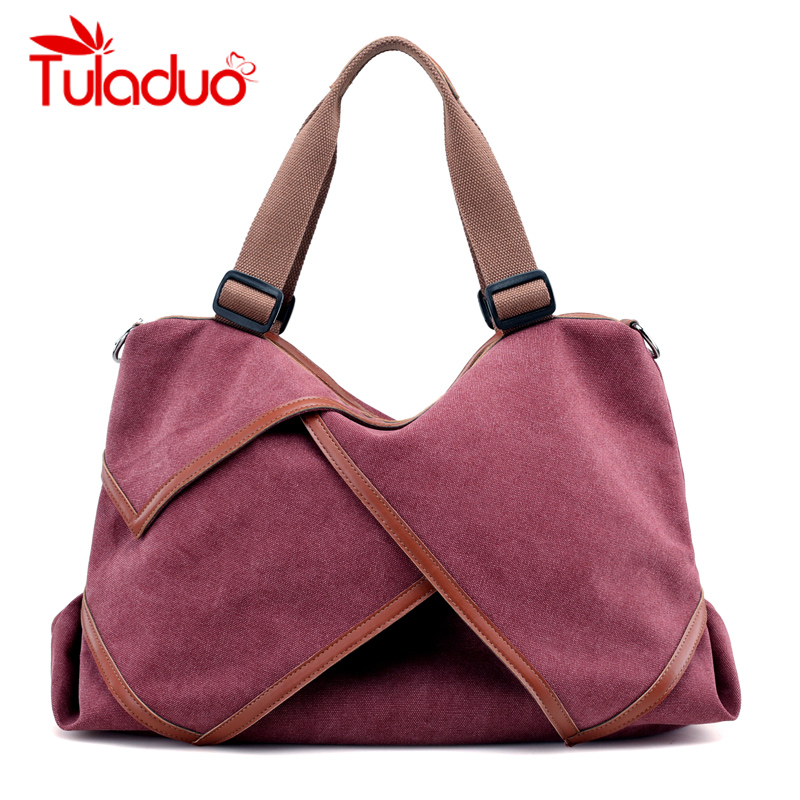 Women Canvas Bag Ladies Shoulder Bags Female Patchwork Handbags Women Original Brands Large Capacity Casual Tote Bags Sac A Main weiju new canvas women handbag large capacity casual tote bag women men shoulder bag messenger crossbody bags sac a main