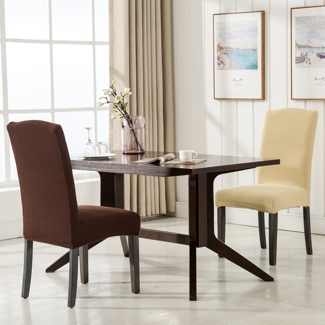 ROMANZO Cotton Fabric Colorful Spandex Dining Chair Cover Hotel Covers For Restaurant Stretch Slipcovers Removable