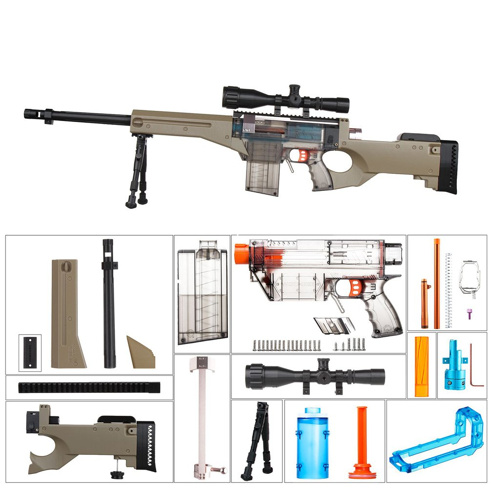 WORKER R Type Fully Auto Kit Toy Gun Accessories for Nerf Stryfe Modified Set YYR 001 024 Toy Gun Accessories Xmas Gift for Kids