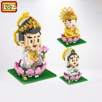 LOZ Toys Chinese Culture Buddha Plastic Toy Bricks Building Blocks Lot Brinquedos Assembled Kids Loz Nano