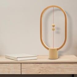 Прямая поставка Хэн баланс ночник умная Светодиодная лампа USB зарядка украшения для домашнего интерьера Спальня Огни Творческий