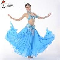 12 Colors Belly Dancing Clothes Performance Women Dancewear Oriental Dance Outfits Bra Skirt belt BellyDance Costume 3 pcs