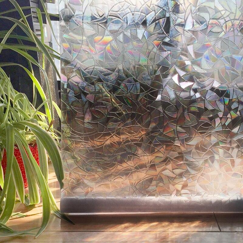 Pambıq rəngləri PVC suya davamlı pəncərə filmləri Yapışqan - Ev dekoru - Fotoqrafiya 5