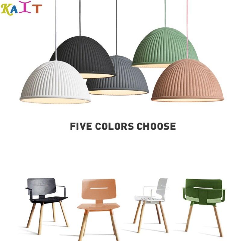 KAIT moderne chapeau résine pendentif lumières salle à manger Art pendentif lampes suspendues éclairage à la maison
