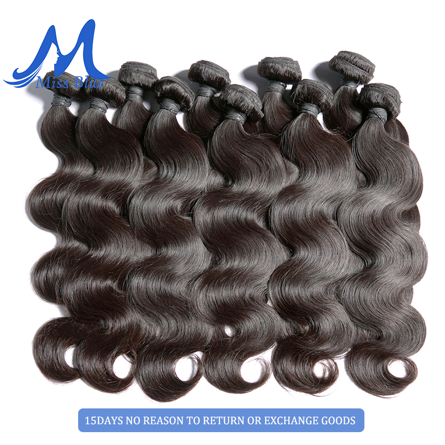 Missblue 10A Mink Quality Brazilian Virgin Hair Bundles Body Wave Grade 10A Raw Human Hair Weave Bundles Extension 1 3 4 P/Lots 9