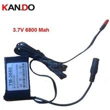 CCTV power 3.7V battery DC 3.7V 6800 Mah battery,high volume lithium battery pack,power bank for mini CCTV Camera