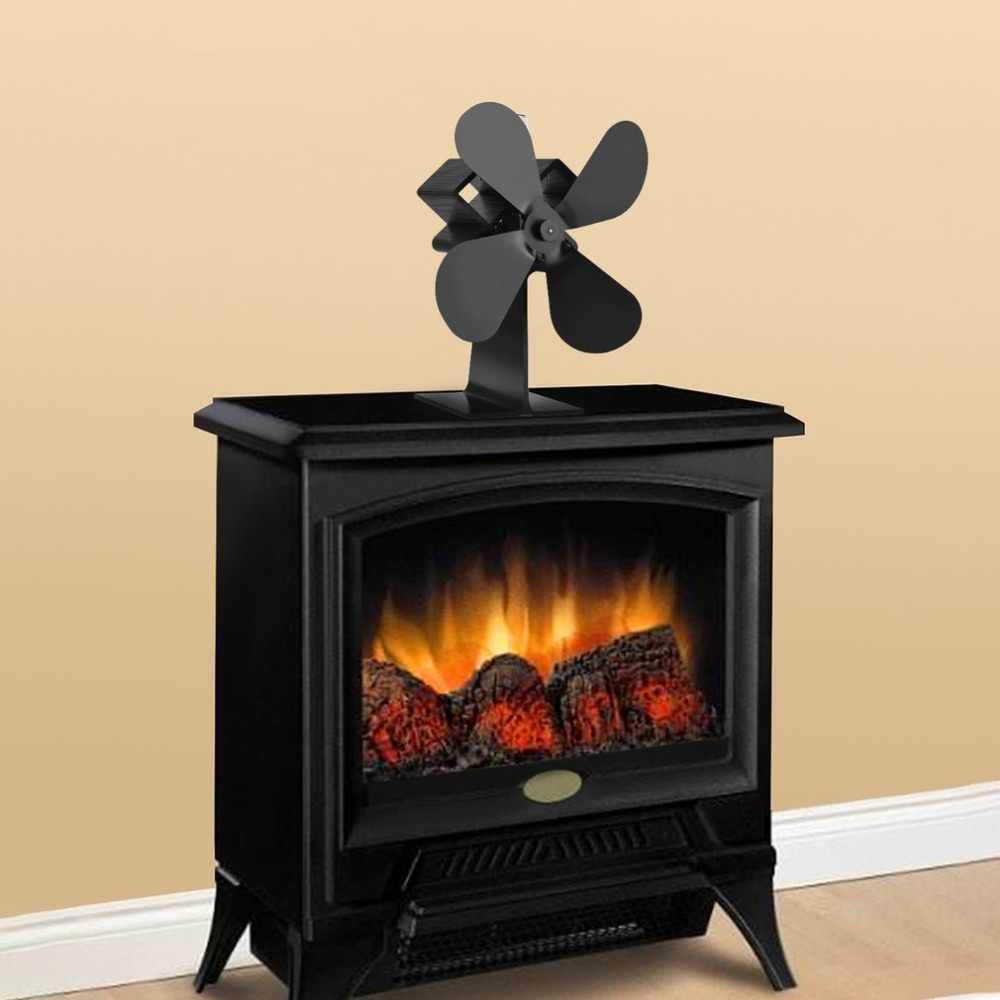 Detail Feedback Questions About 4 Blades Heat Powered Stove Fan Log
