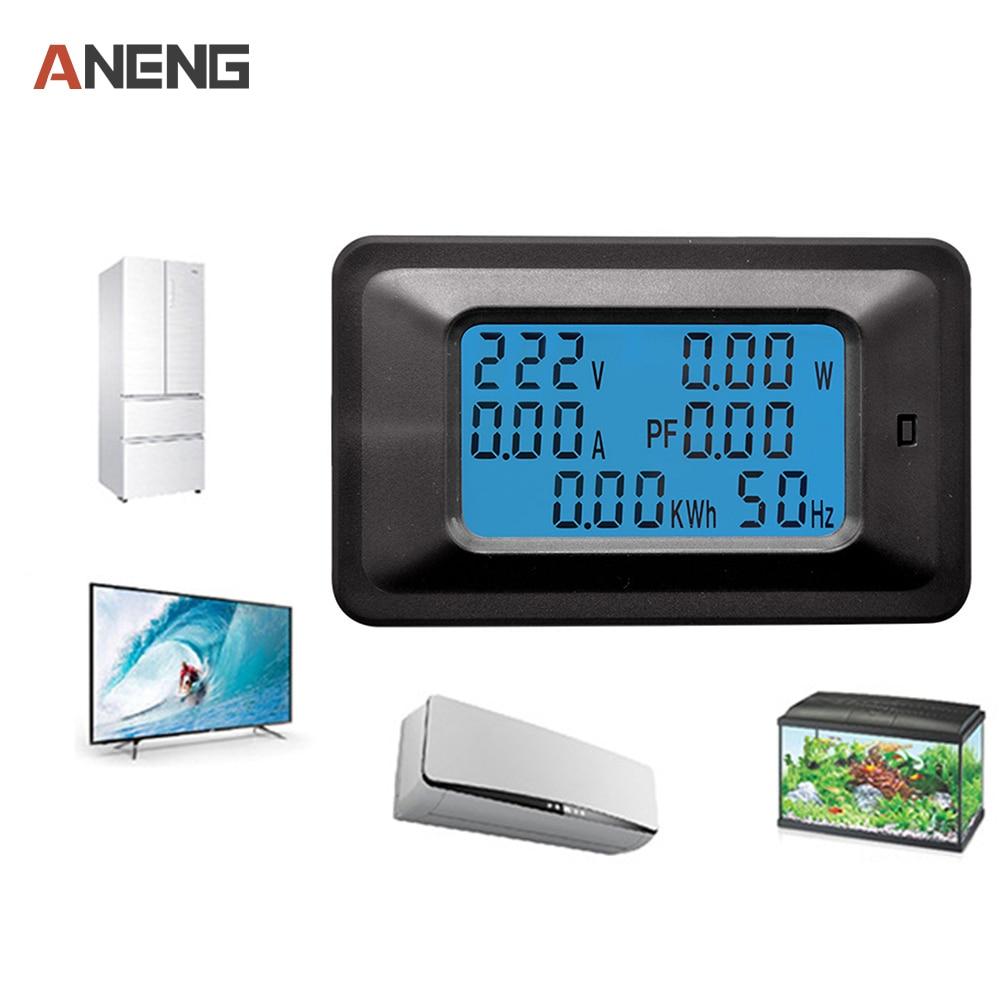 Multifunktions Digital Ac Voltage Meter Power Monitor Anzeige Energie Voltmeter Englisch Version 20a 100a