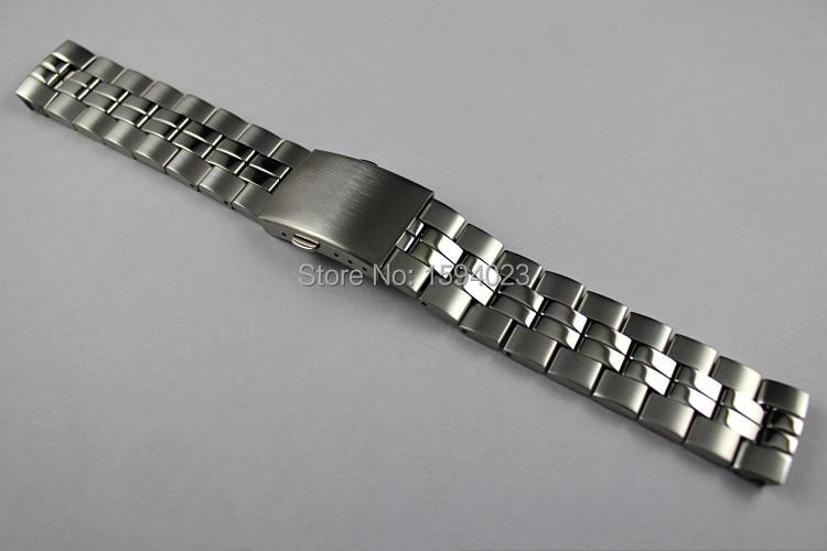 19 mm T049417 T049407 T049410A Modelos masculinos Banda de reloj Correa de banda de acero inoxidable T-CLASSIC para T049