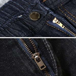 Image 5 - Large size large size mens jeans 9XL 10XL 11XL 12XL pants autumn pants stretch straight 50 54 56 58 jeans stretch black large s