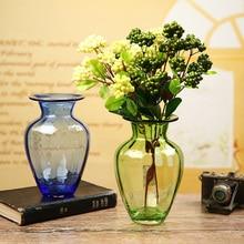 Europe glass vase colorful bottle terrarium containers Tabletop Vases  decoratives flower pot home wedding decoration