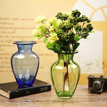 Europe glass vase colorful bottle terrarium glass containers Tabletop Vases  decoratives flower pot home wedding decoration