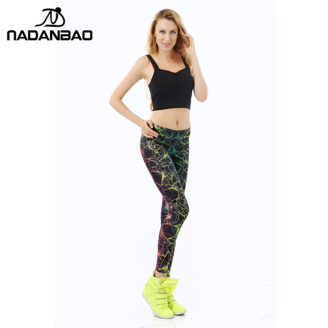 New Fashion Women leggings 3D Printed color legins Ray fluorescence leggins pant legging for Woman
