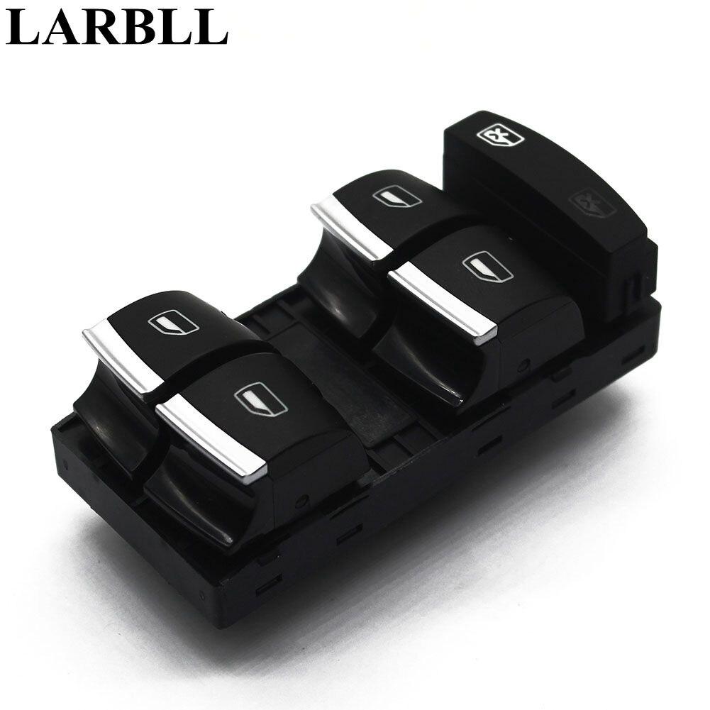LARBLL Nouveau Chrome Maître Interrupteur de lève-Vitre Pour Audi A3 8 P A4 S4 RS4 B6 B7 A6 S6 RS6 C6 Q7 4F0959851H