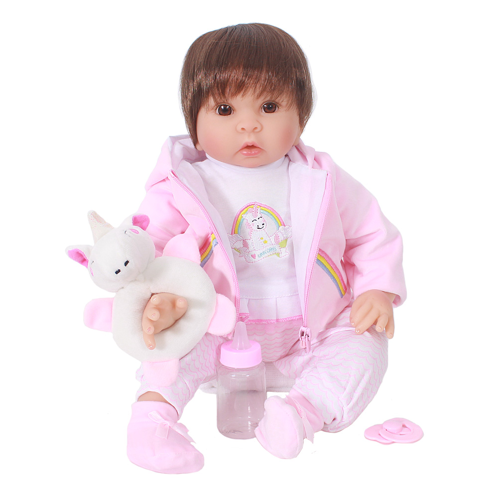 OtardDoll Bebe Reborn Dolls 20inch 50cm Soft Vinyl Reborn Baby Doll Lifelike Bonecas Girls Toy For