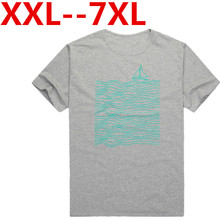 Plus große größe 10XL 9XL 8XL 7XL 6XL 2016 Neue Ankunft mode t-shirt Sommer kurzarm Casual Druck Brief Oansatz Männer T-shirt