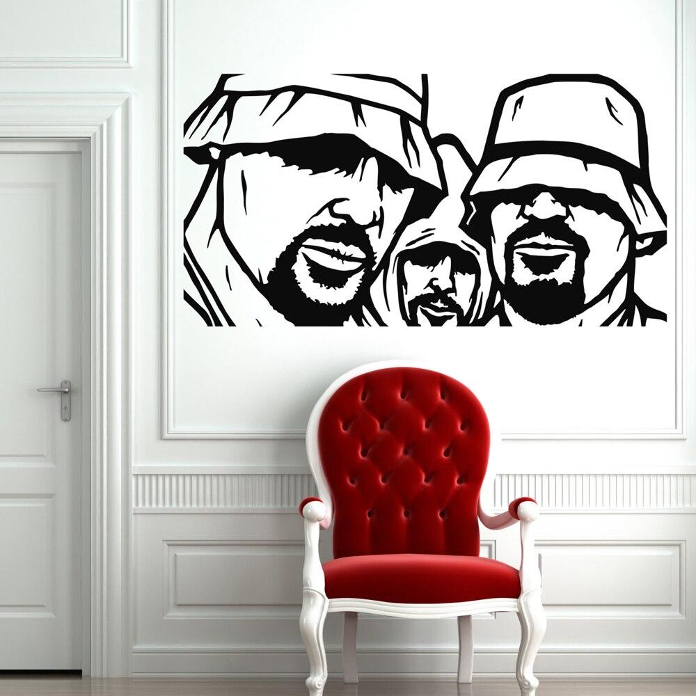 Compre El Hombre Del Sombrero Creative Rappers Rap Music Vinilos Decorativos Para Habitaciones De Niños Vinilos Decorativos Sala De Estar Decoración