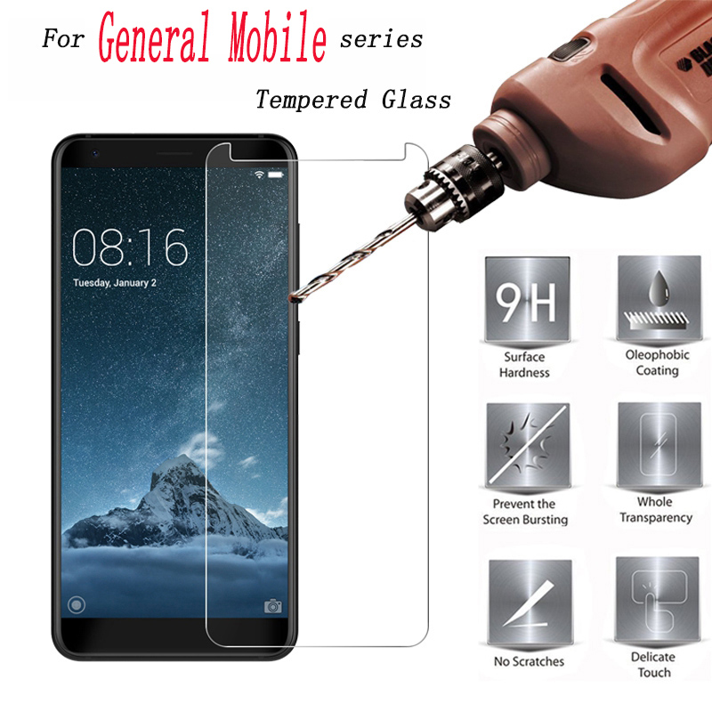 2PCS 9H Tempered Glass for General Mobile GM 8 Go 9 Pro 6 5 Plus GM5 GM6 GM8 9H High Quality Protective Film Screen Protector(China)