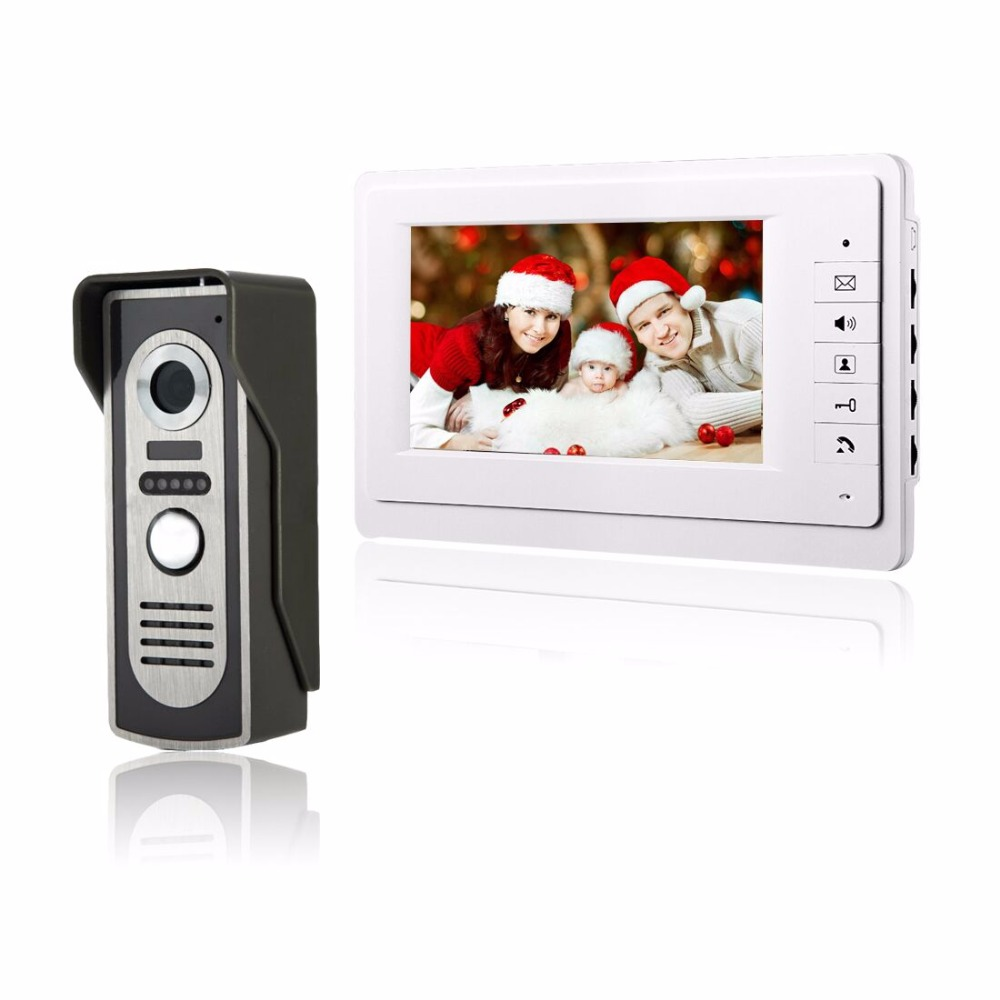 7 Color Video Door Phone Video Intercom Door Intercom Doorphone IR Night Vision Camera Doorbell Kit for Apartment 7 tft lcd color video doorphone doorbell intercom system with ir camera night vision for villa home apartment