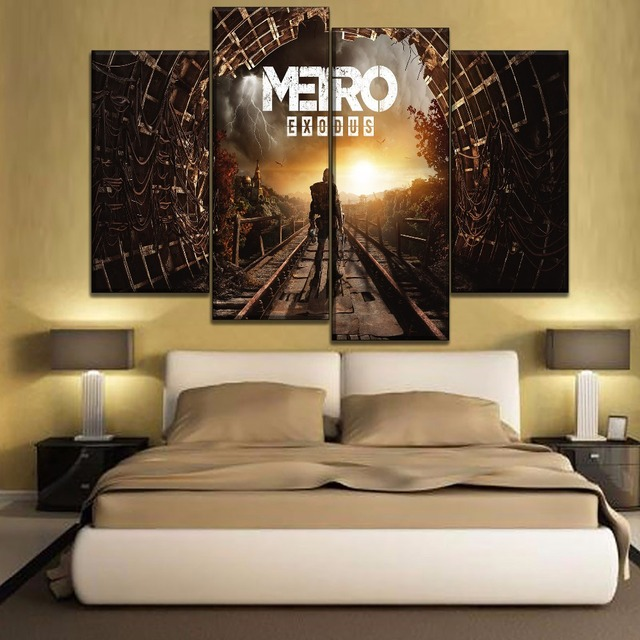 Canvas Printing Type Modular Picture Wall Art 5 Pieces Game Metro Exodus Poster For Modern Living Room Home Decorative 3