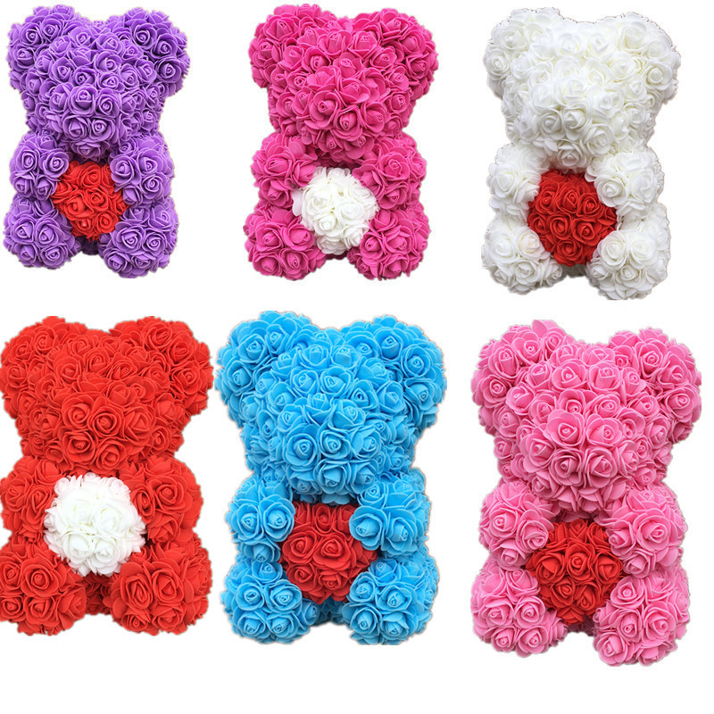 40cm Blue Giant Large Rose Bear Multi Style Creative Gift Valentine/'s Day NEW