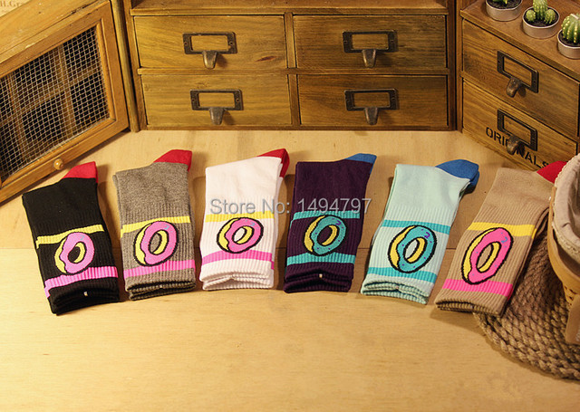 Skarpetki wzór donut różne kolory