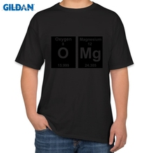 Graphic T Shirts Regular Omg Periodic Table Cute Science Parody Nerd Geek College Short O-Neck Tee Shirt For Men