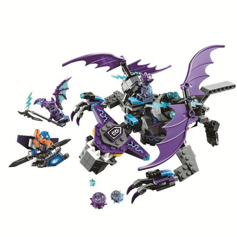 10702 BELA 335Pcs Nexo Knights the Heligoyle Model Building Blocks Enlighten Figure Toys For Children Compatible Legoe Nexus decool 3117 city creator 3 in 1 vacation getaways model building blocks enlighten diy figure toys for children compatible legoe
