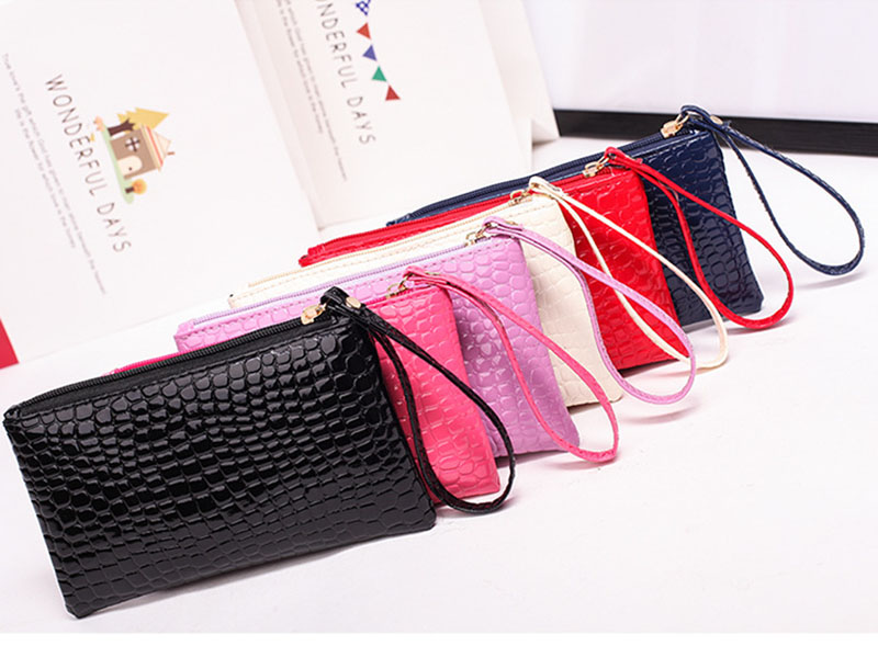 New Mini Day Clutches Women's Bag Korean Version Crocodile Pattern Clutch Bag Ladies Mobile Phone Bags Wallet PU Leather Handbag (7)