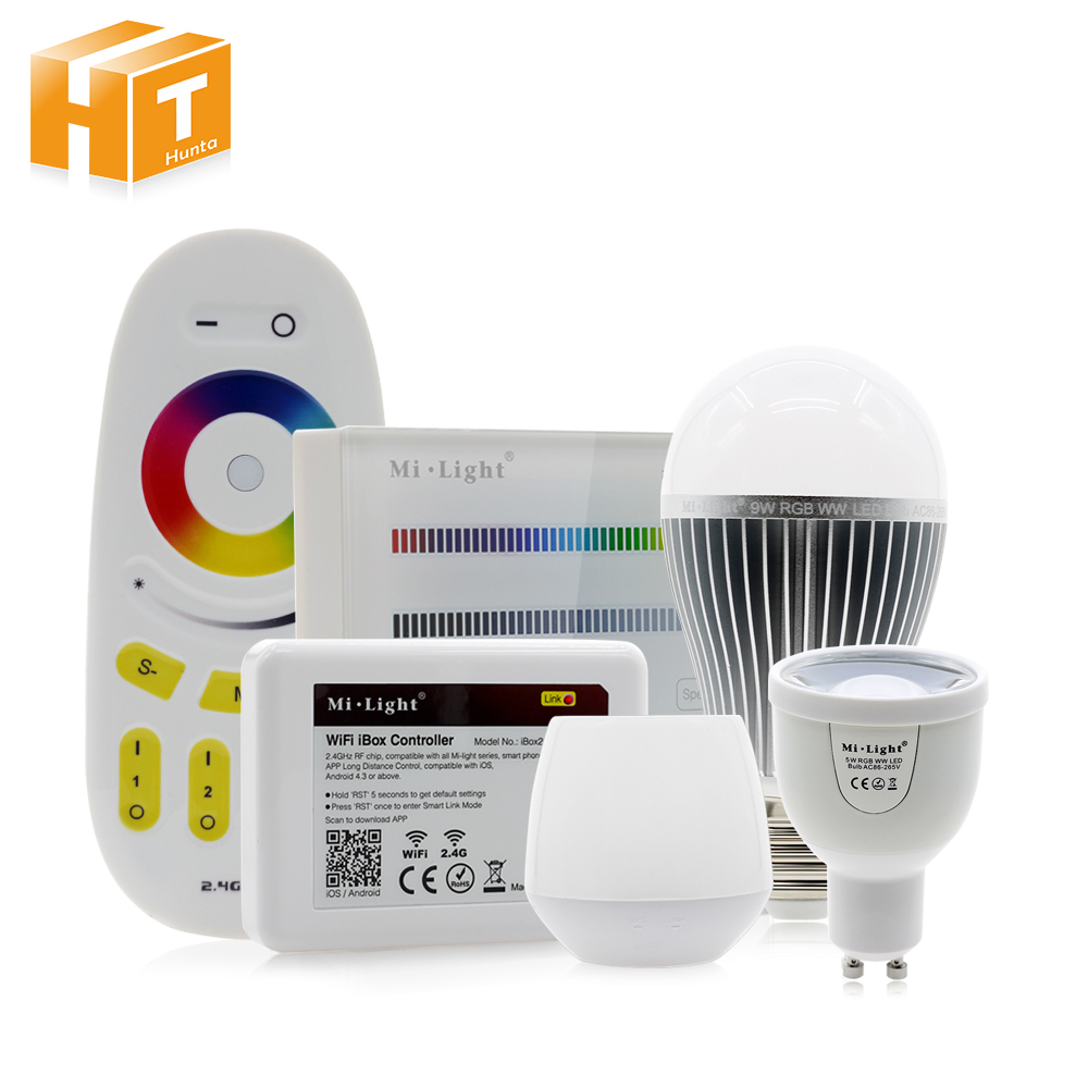 все цены на Mi Light RGBW LED Bulb AC86-265V GU10 5W / E27 9W RGBWW / RGBCW Remote Control Smart Lighting FUT096