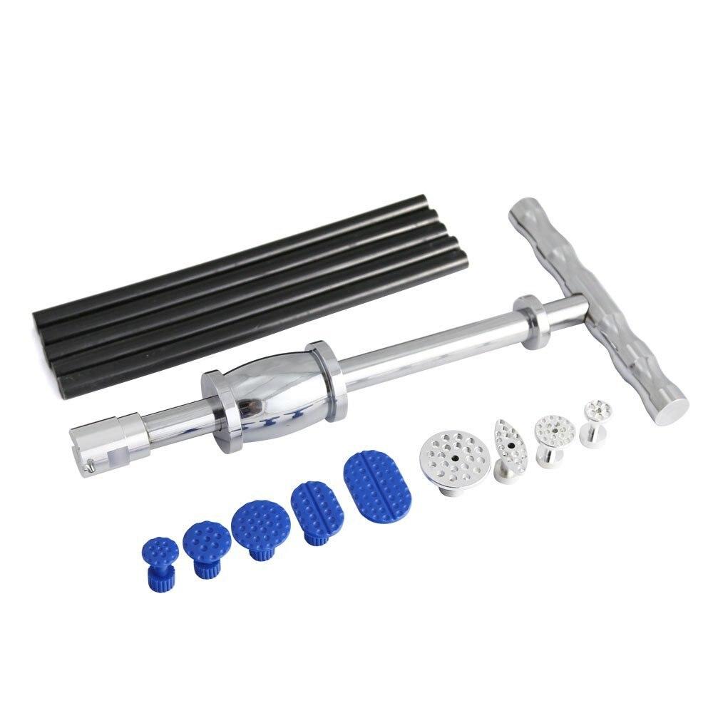 Hail Repair Kit handle Dent Lifter - PDR Slide Hammer with Tap Down - Glue Tab & Glue Stick - Paintless Dent Repair Tool