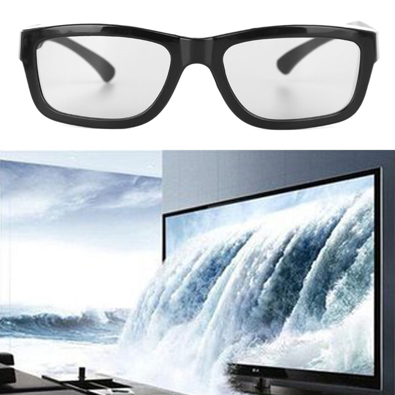 Circular Polarized Passive 3D Stereo Glasses Black For 3D TV Real D IMAX Cinemas
