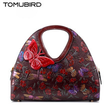 TOMUBIRD new Superior cowhide leather famous brand women bag Chinese style Painting embossed  fashion genuine leather handbags
