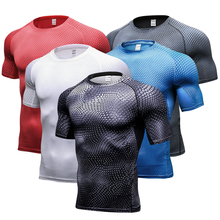 New Quickly Dry Breathable Sport Gym Shirt Men Fitness Tights Top Soccer Jerseys Running T Shirt Demix Men'S Sportswear Rashgard(China)