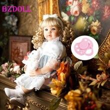 Lifelike 60 cm vinil reborn criança bebê boneca 24