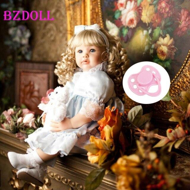"Lifelike 60cm Vinyl Reborn Toddler Baby Doll 24"" Newborn Girl Princess Toy Lovely Kids Birthday Gift"