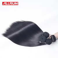 ALLRUN Peruvian Straight Hair Bundles 1PCS 100 Natural Color Non Remy Straight Human Hair Weaving