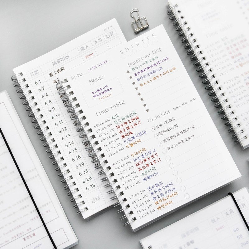 32K Business Weekly Planner Sketchbooks School Stationery Supplies Bullet Notebook Journal Diary Book Notepad Office 016026