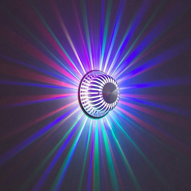 7 צבע Dimmable LED מנורת קיר עם 24 מפתח מרחוק בקר אורות פמוט לבית מקורה קישוט תאורה מודרני מנורות