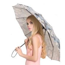 High Quality Fully-automatic Umbrella Men Rain Woman Anti-UV Sunshine Windproof 3 Folding Business Gift