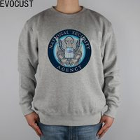 Homeland Security Network Google INTERNET NSA Men Sweatshirts Thick Combed Cotton