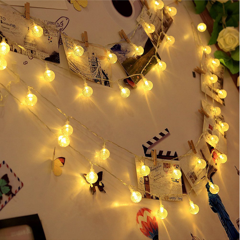 lowest price 5M 7M 10M Solar Lamp Crystal Ball LED String Lights Flash Waterproof Fairy  For Outdoor Garden Christmas Wedding Decoration