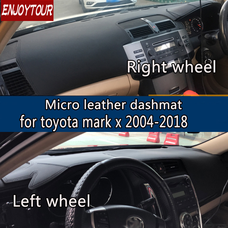 Leather Dashmat Dashboard Cover Prevent Sunlight Pads Dash Mat 2008 2009 2012 2013 2014 2016 LHD+RHD For Toyota Mark X 2004-201