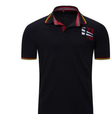 Europe Size M/3Xl Male   Polo   Shirt Short Sleeve Turn Down Collar Navy Blue/Grey Men Summer   Polo   Shirts Tops Leisure Clothes J2442